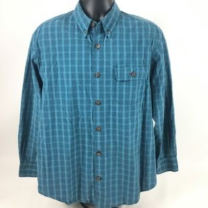 Duluth Trading Flannel/Dress Button Front Mens M